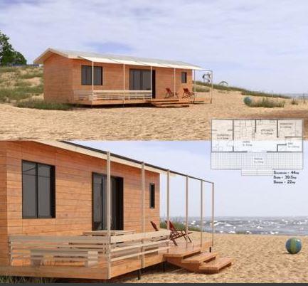Casa lemn 44mp