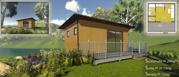 Proiect casa lemn 24mp