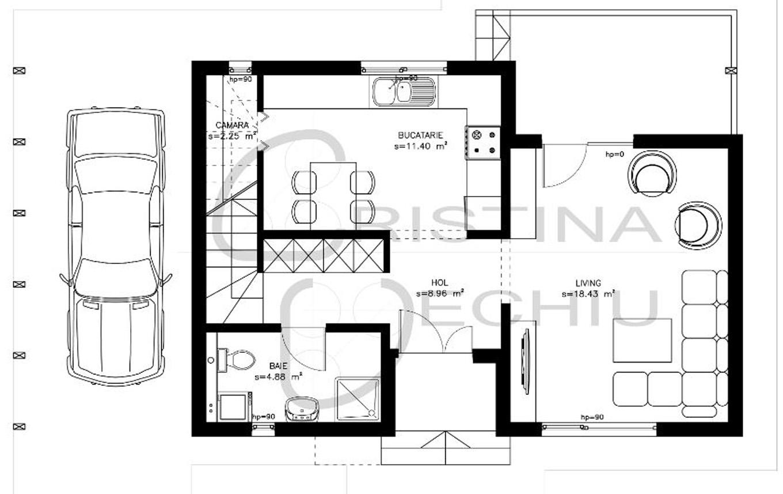 Casa lemn 128mp