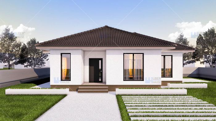 Proiect casa parter (97 mp) – Ema