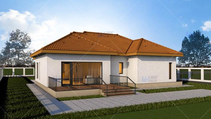 Proiect casa parter (98 mp) - Eva