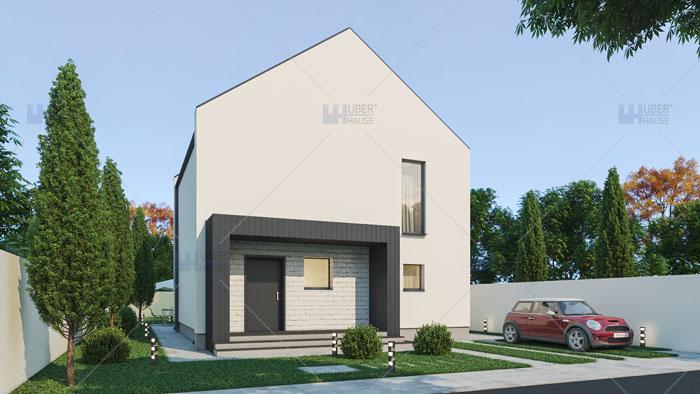 Proiect casa parter + etaj (120 mp) – Elania