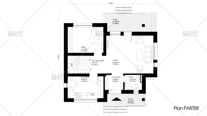 Proiect casa parter + etaj – Veneto