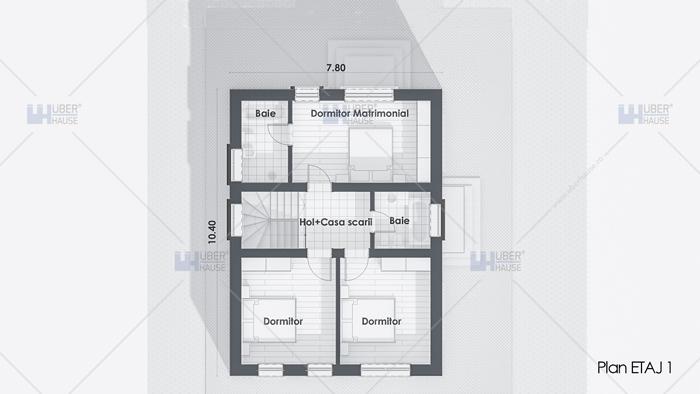 Proiect casa parter + etaj (119 mp) – Zaira
